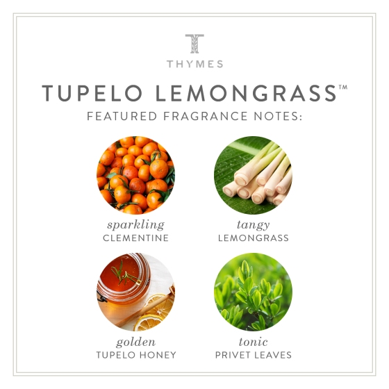 Tupelo Lemongrass Fragrance Notes